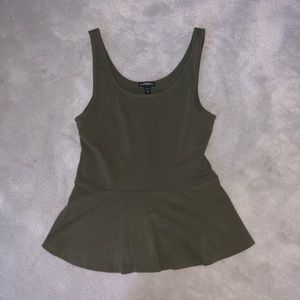 Olive Green Peplum Top from Express NWOT
